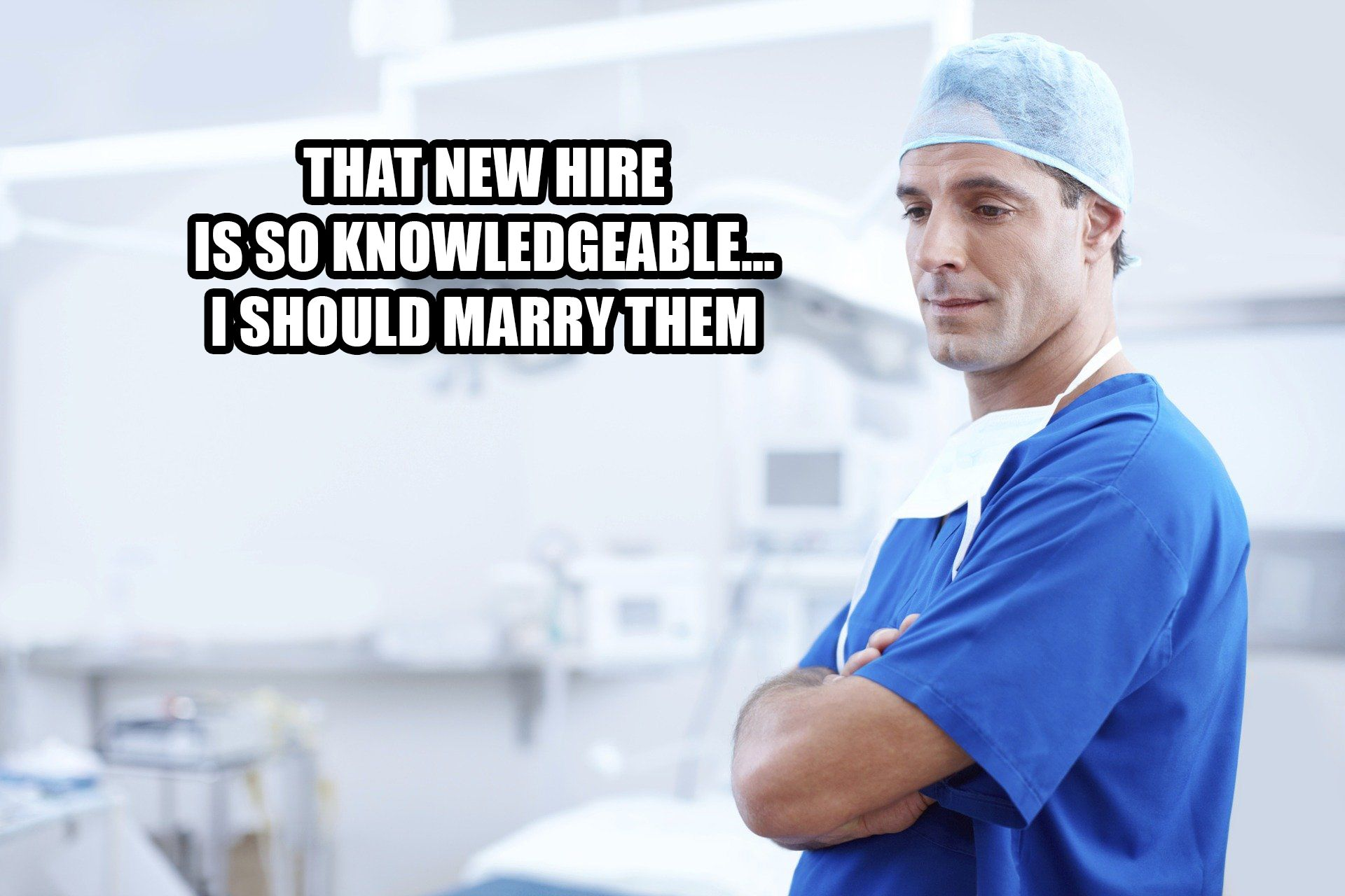 Doctor thinking in the operation room