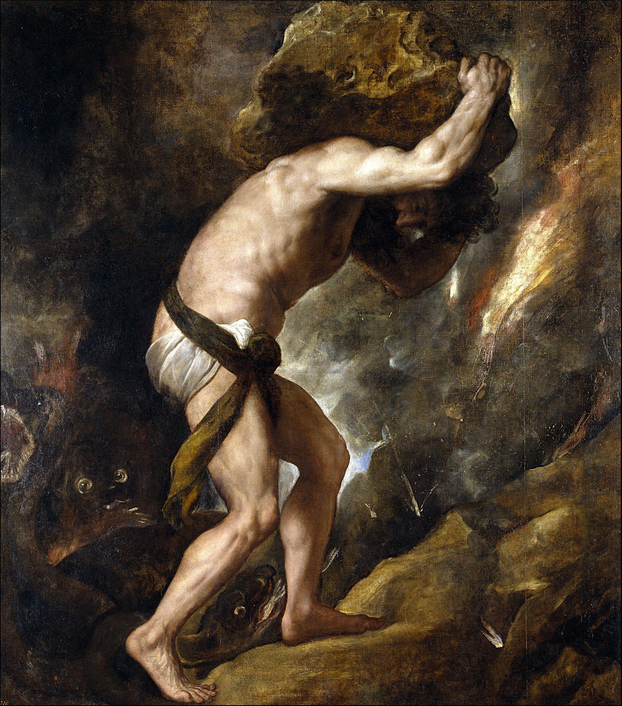 Painting of sisyphus
