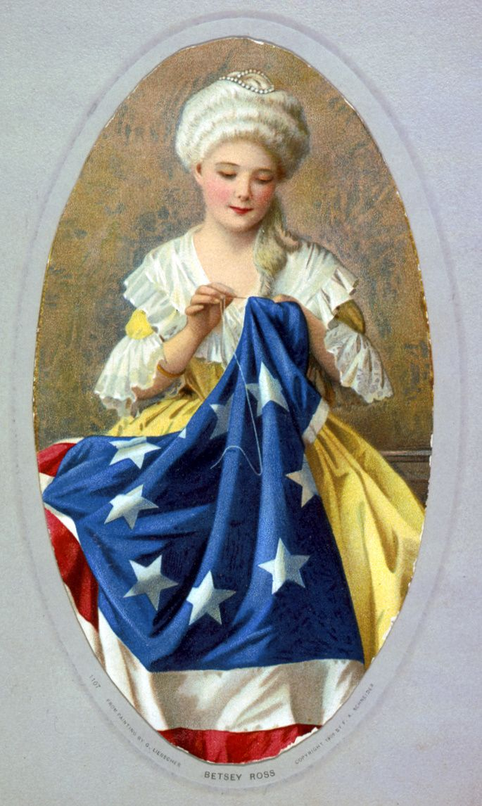 Betsy ross sewing American flag US history myths