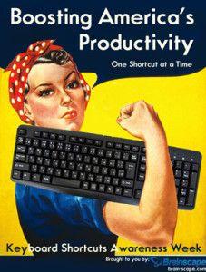 American productivity keyboard shortcuts