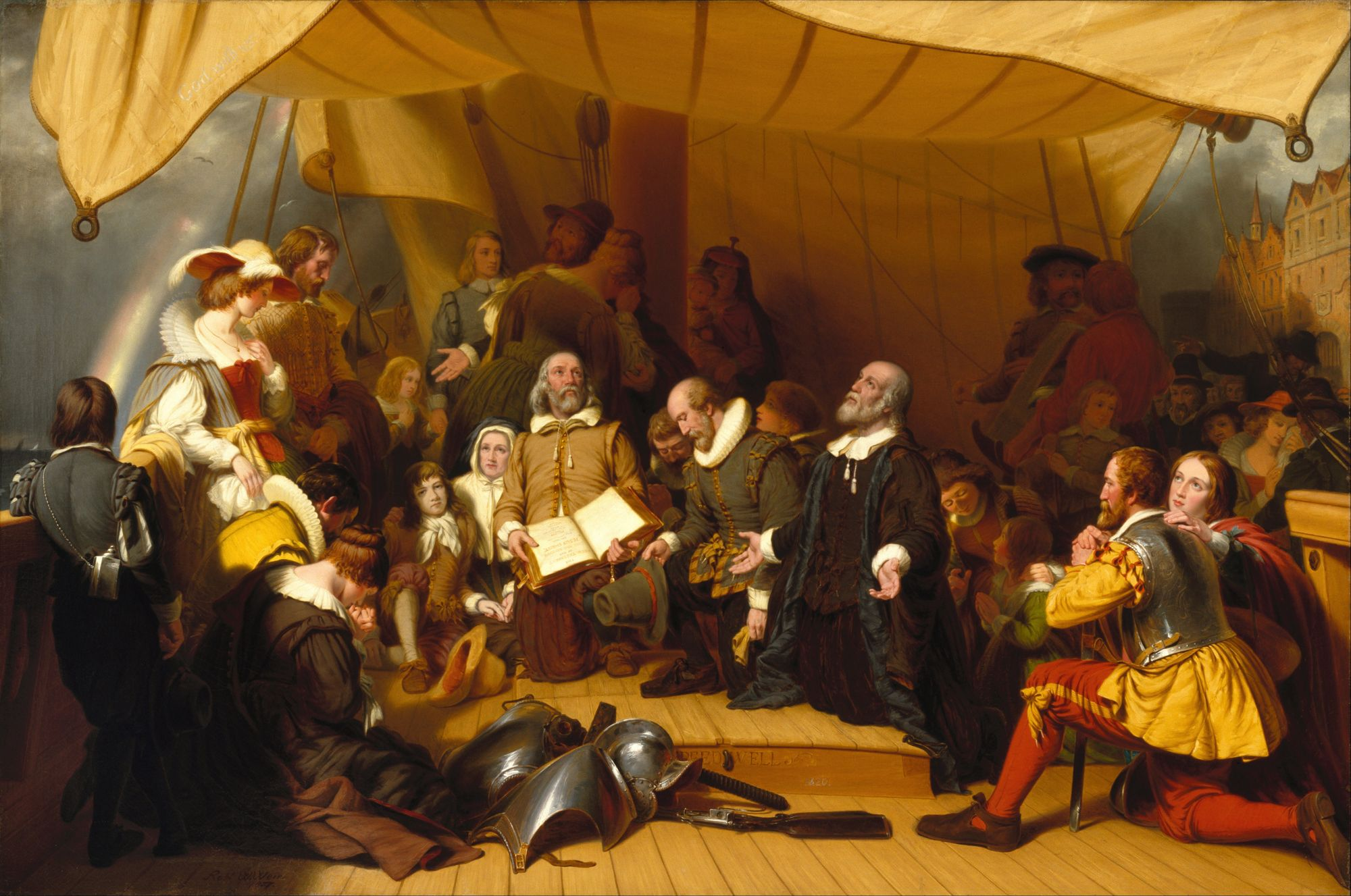 US History myths: puritans in a tent