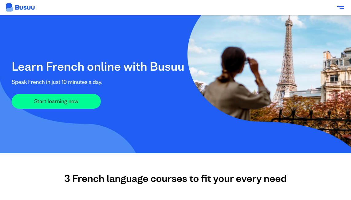 Busuu best app to learn French