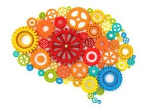 gray matter brain image made of cogs