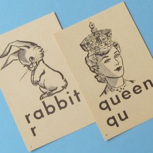 Old cards, history of flashcards