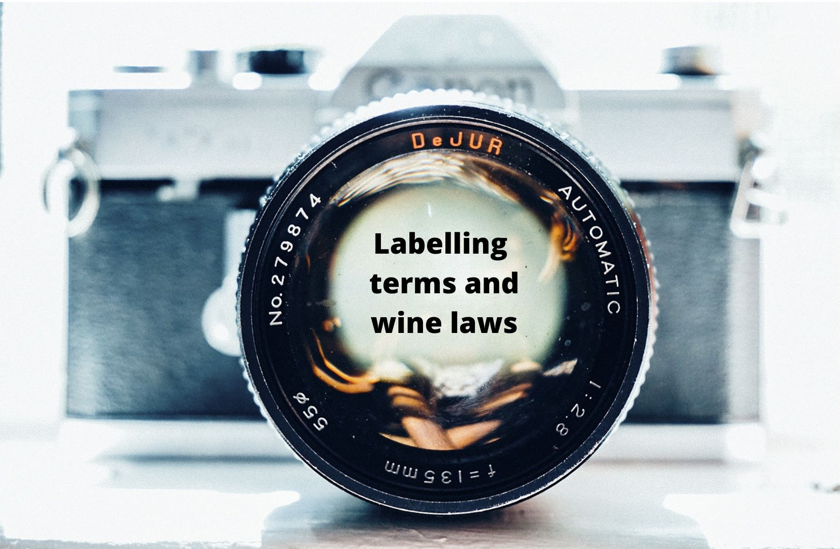 Camera lens with text