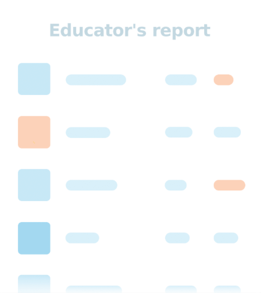 Educator's report for employee development