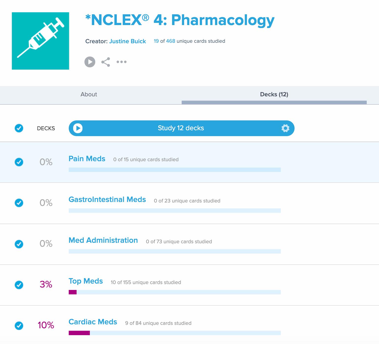 NCLEX Pharmacology Flashcards Brainscape