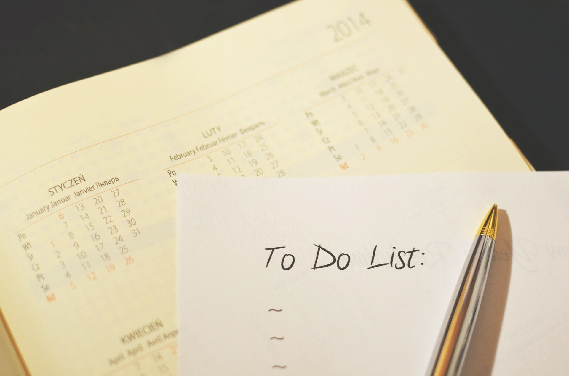 To do list on paper, how to prepare for the WSET exam