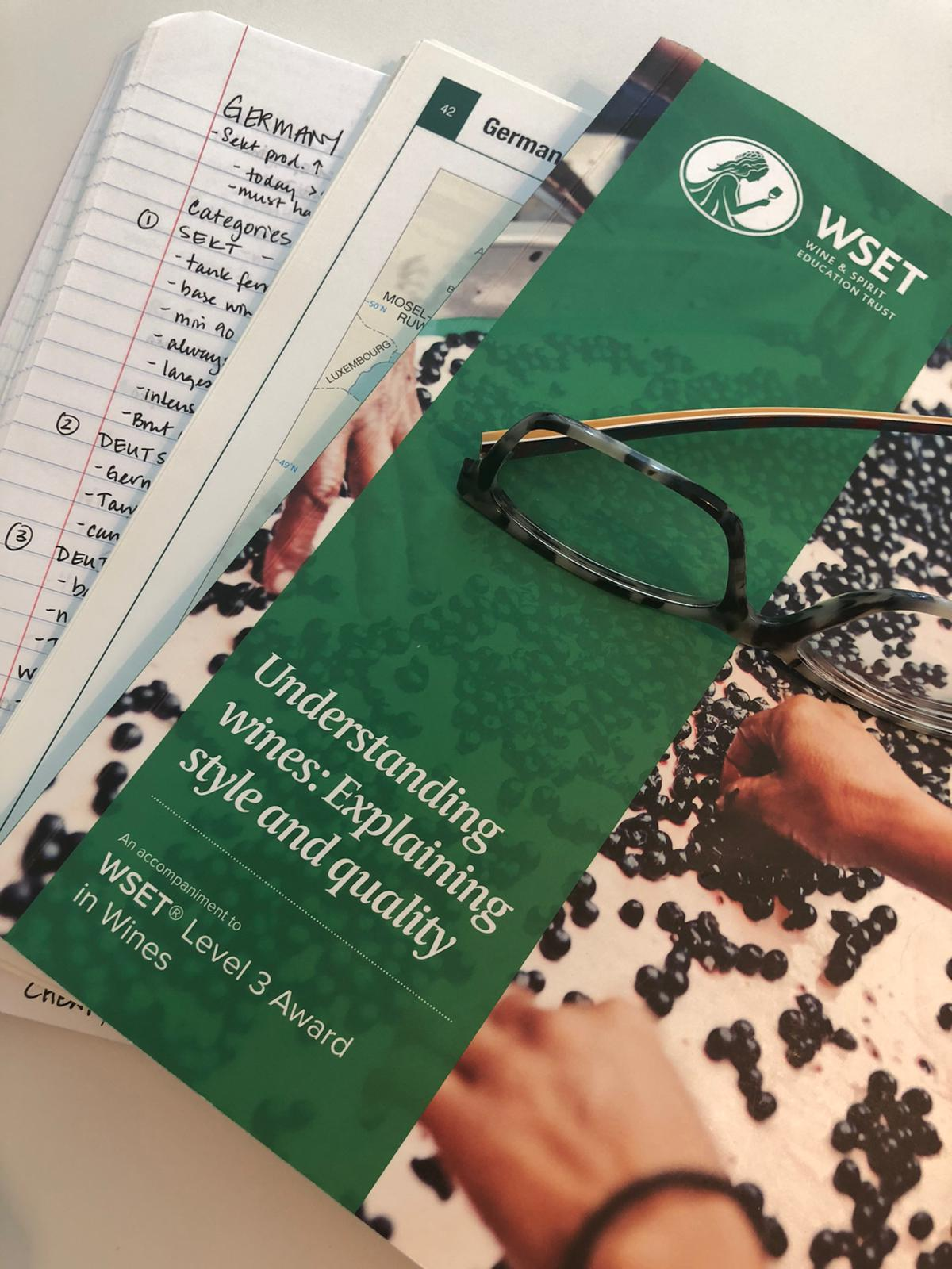 WSET Level 3 wine exam course book