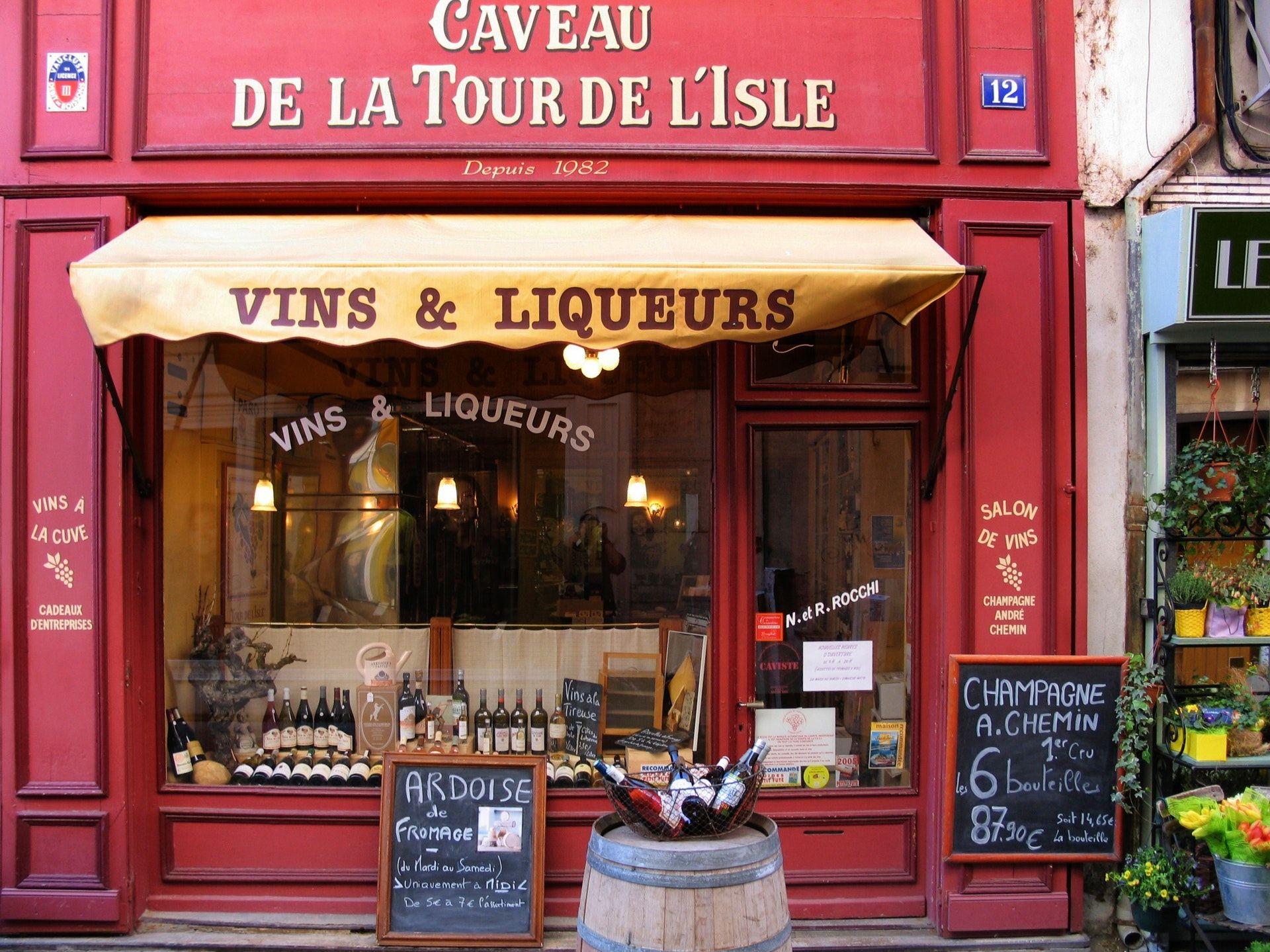 Wine bar in France