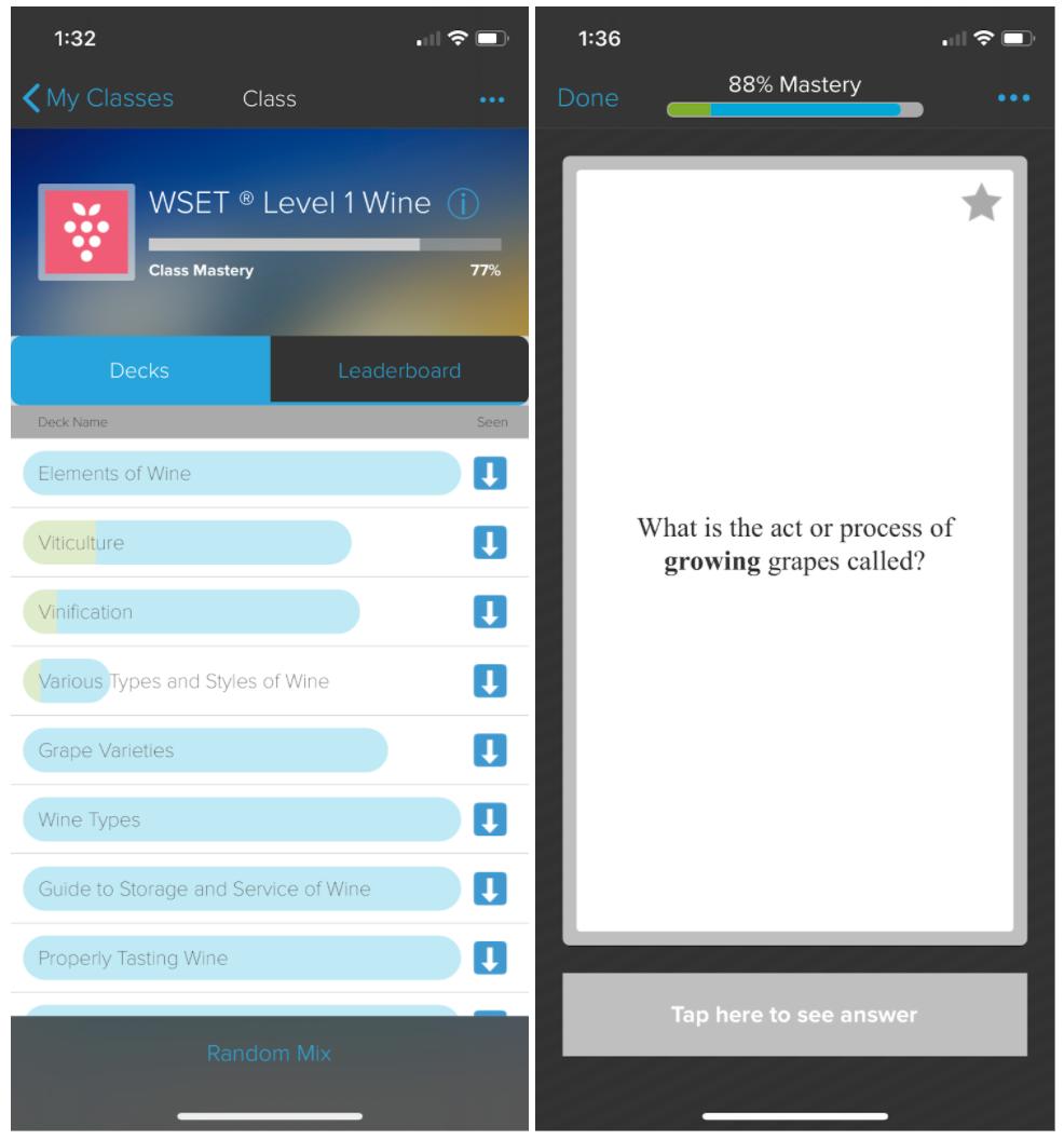 Brainscape WSET Level 1 for mobile