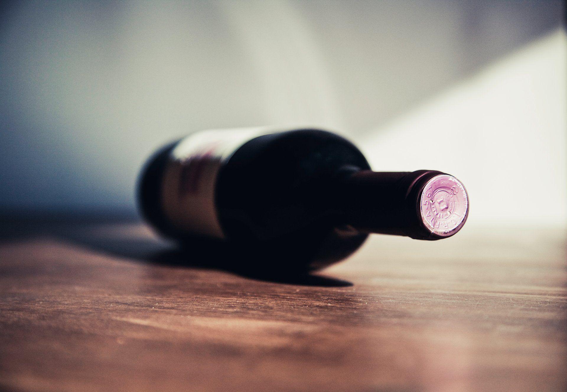 Red wine bottle; WSET Level 1