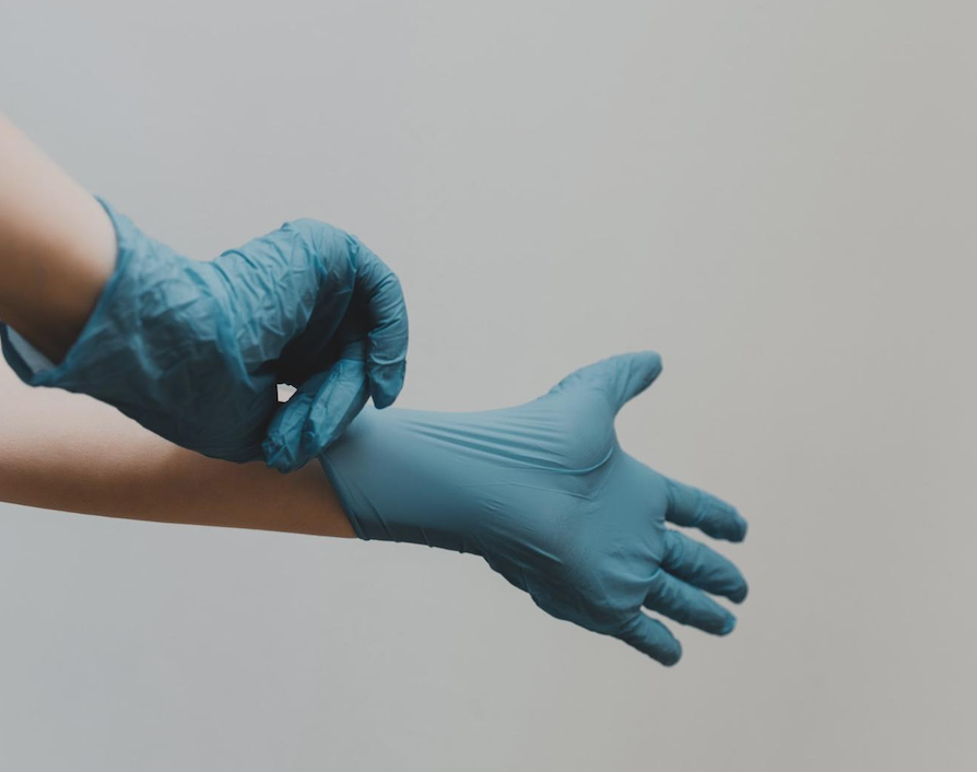 Rubber gloves' getting hands dirty for NCLEX stress