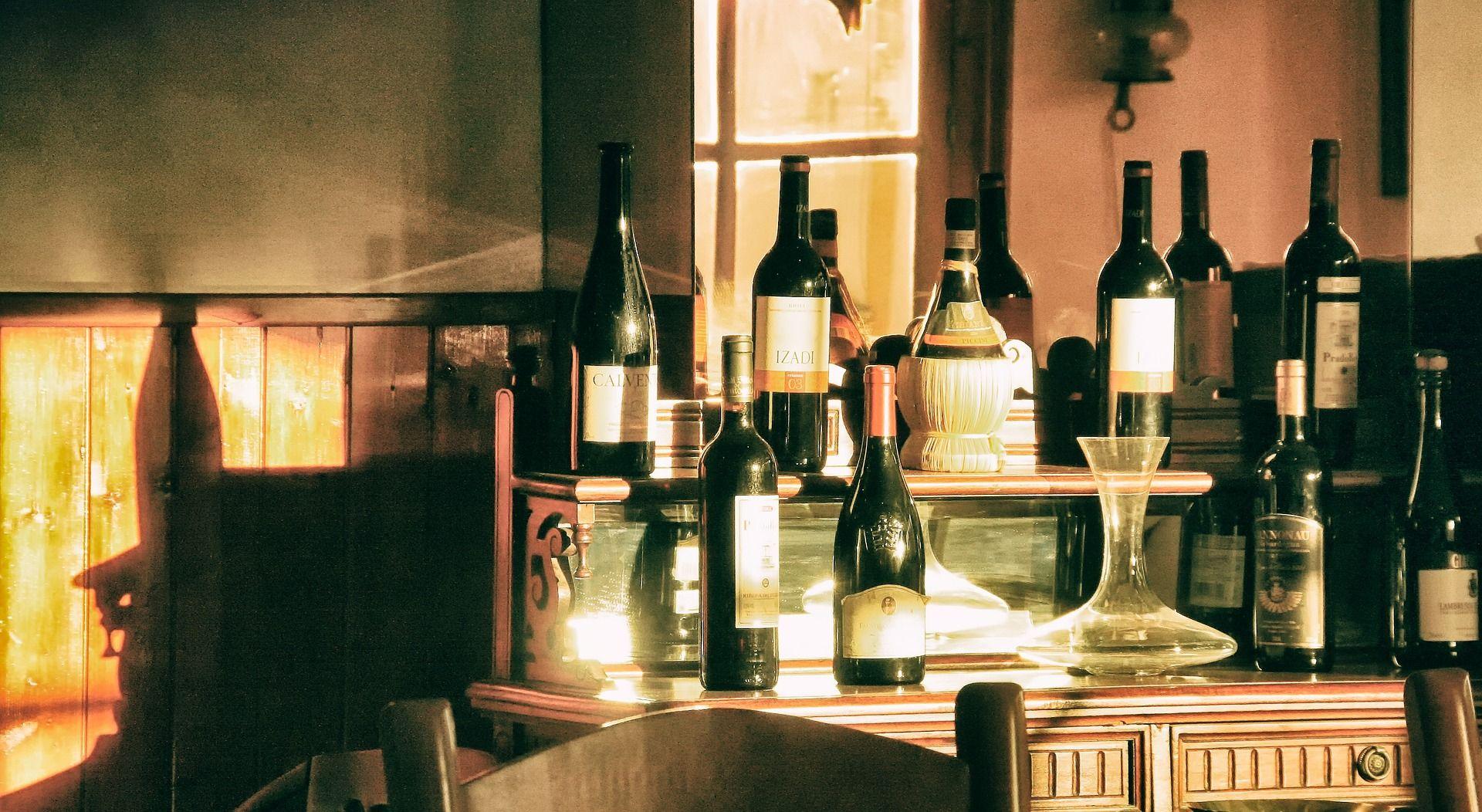 Wine bottles; WSET Level 1 exam