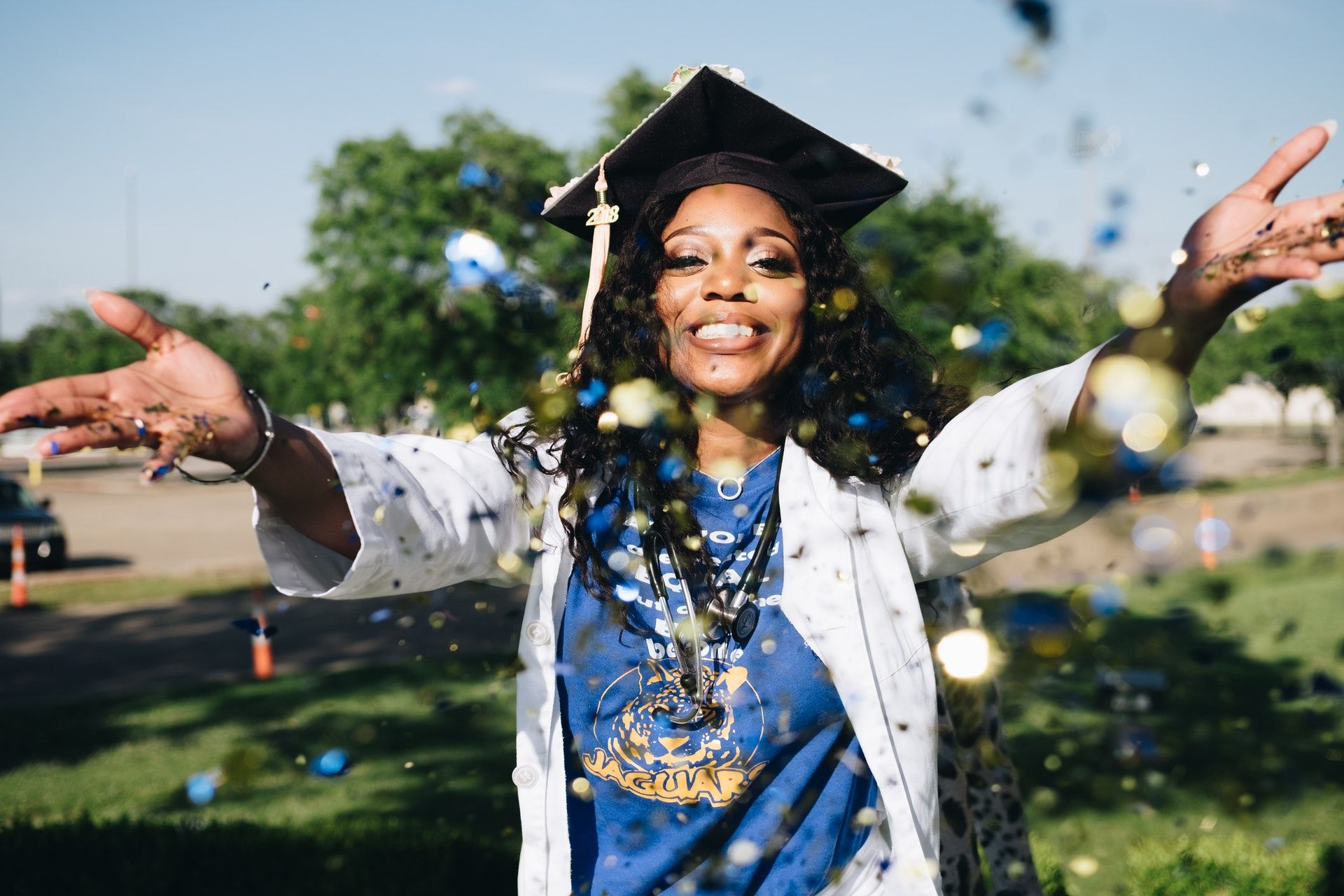 Girl celebrating graduation; Select all that apply NCLEX questions