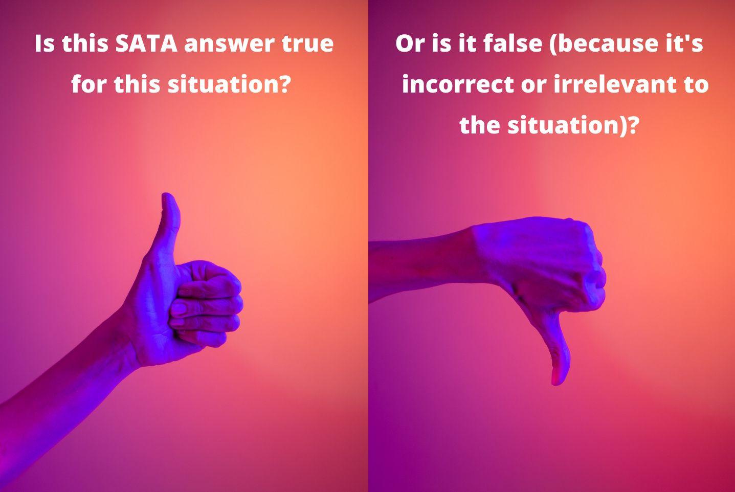 True or false filter for SATA NCLEX questions