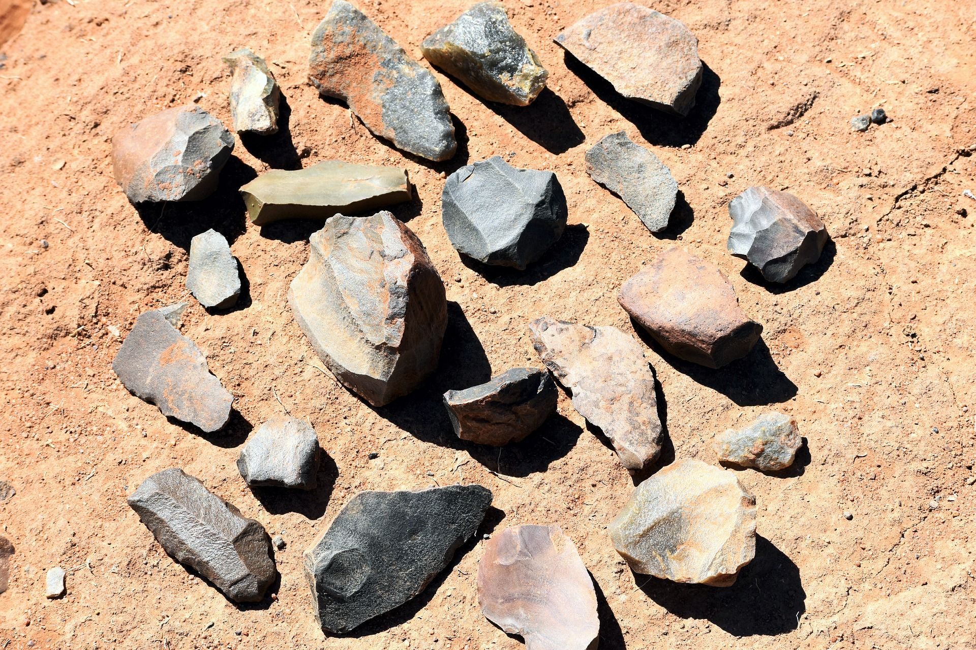 stone tools, early world history