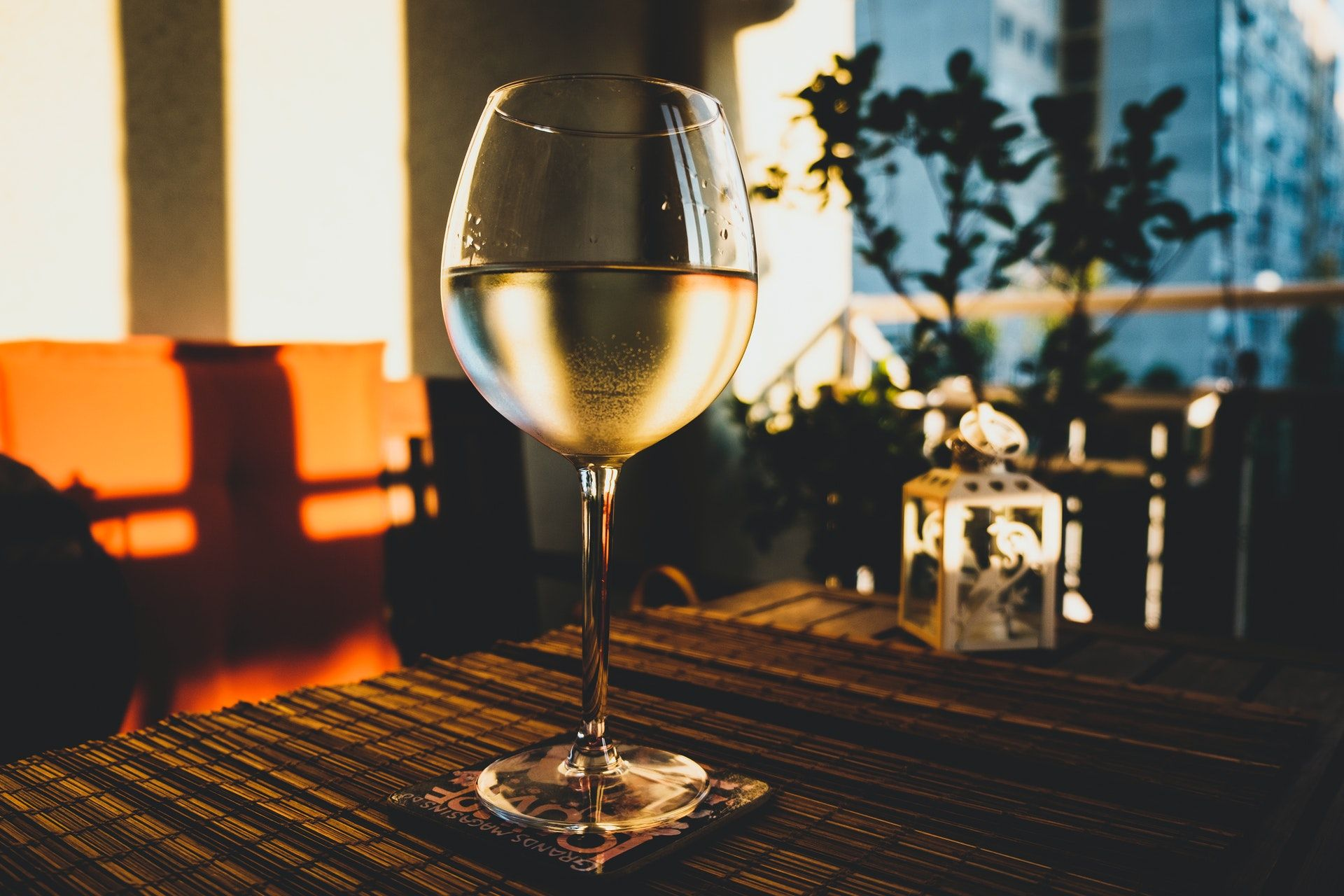 Glass of Chardonnay wine
